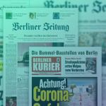Zeitungen des Berliner Verlag. Foto: Berliner Verlag; Collage: Medieninsider
