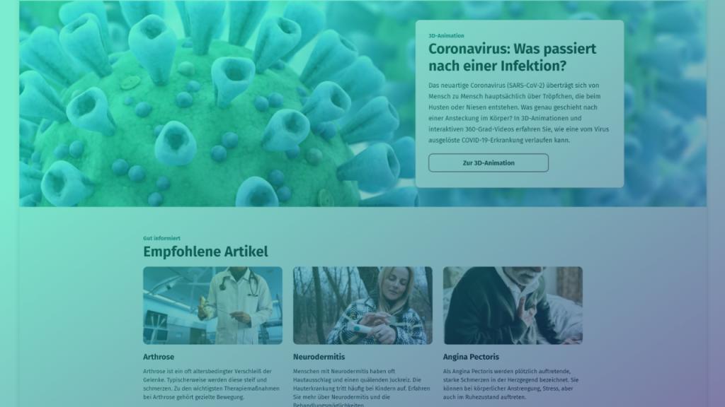Screenshot von gesund.bund.de Montage: Medieninsider