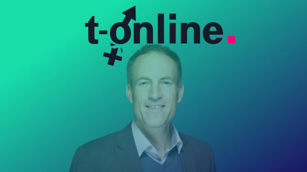 T-Online-Chefredakteur Florian Harms. Foto: Ströer Montage: Medieninsider