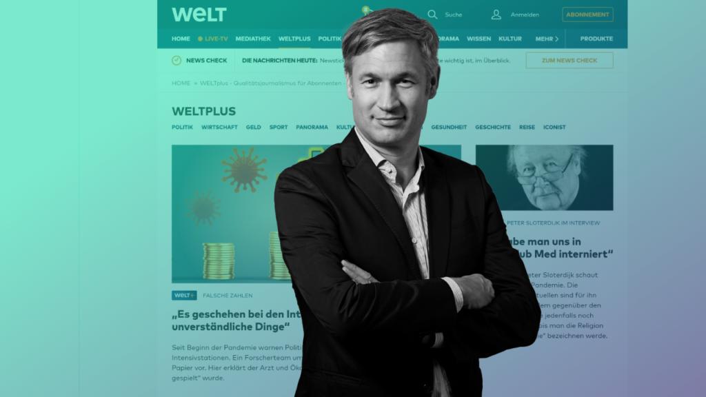 Ulf Poschardt, Chefredakteur der Welt, Foto: Axel Springer